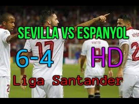 Resumen Sevilla vs Espanyol (6-4) Liga Santander 16/17 HD