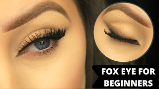 HOW TO: FOX EYE MAKEUP FOR BEGINNERS | DRUGSTORE