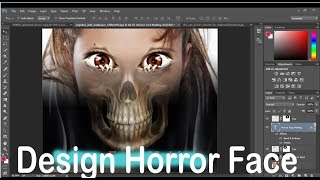 How to Design horror Face in adobe Photoshop cs5 cs6 cs4 cs3 7 0 By Technical Haseeb
