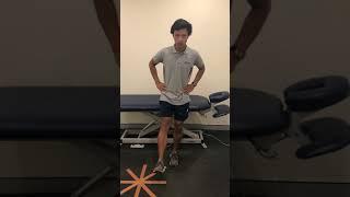 Controlled squat:sit