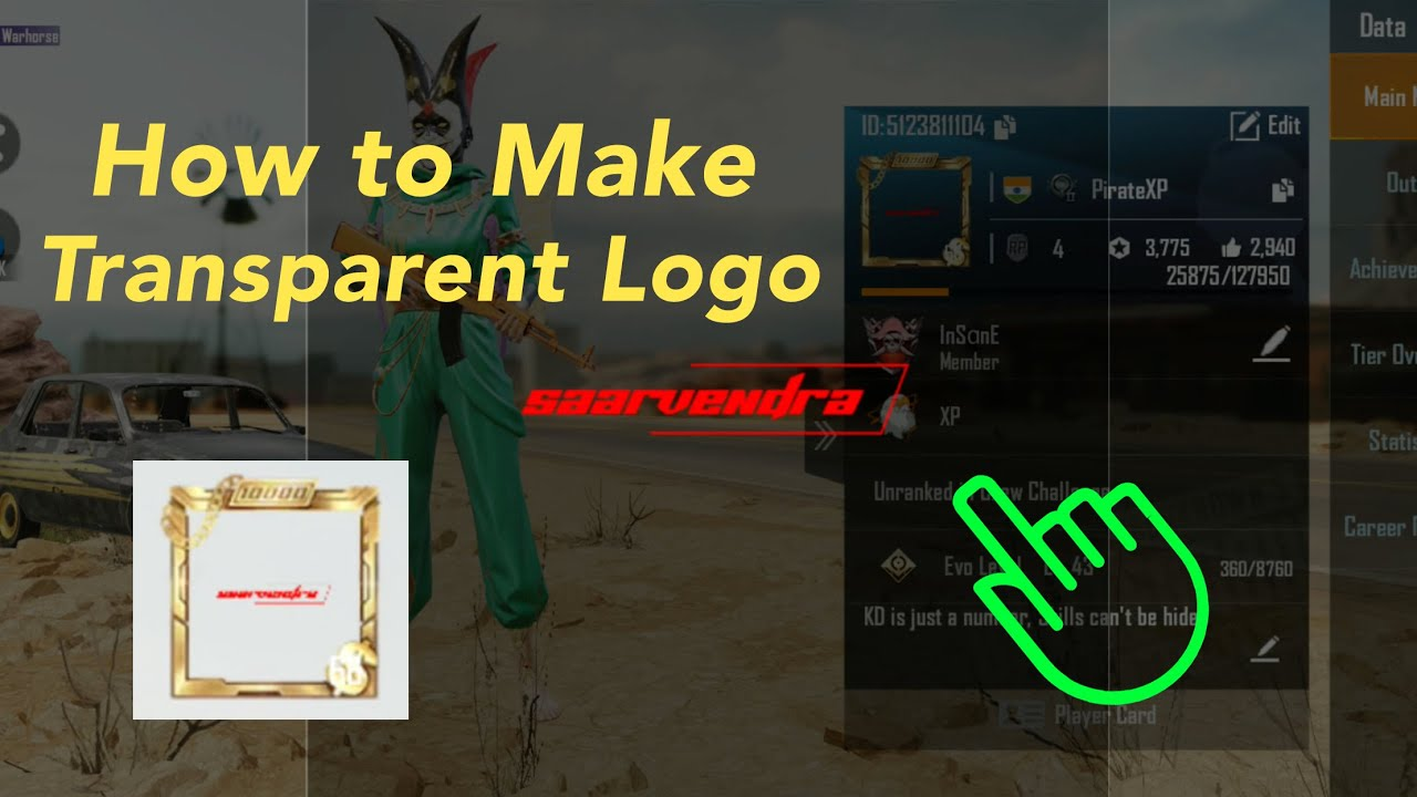 Pubg Mobile Profile Transparent Logo Trick Background Remove Easy Tutorial Youtube