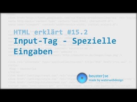 HTML Erklärt #15.2 Input Tag - Spezielle Eingaben