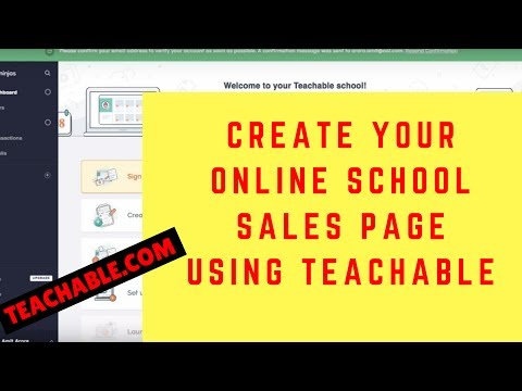 Setting up your online school using Teachable.com - Part 2