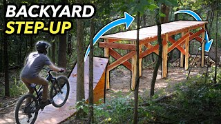 Building a huge Wooden On-Off Drop in our Backyard! // Subscriber Trail pt. 8