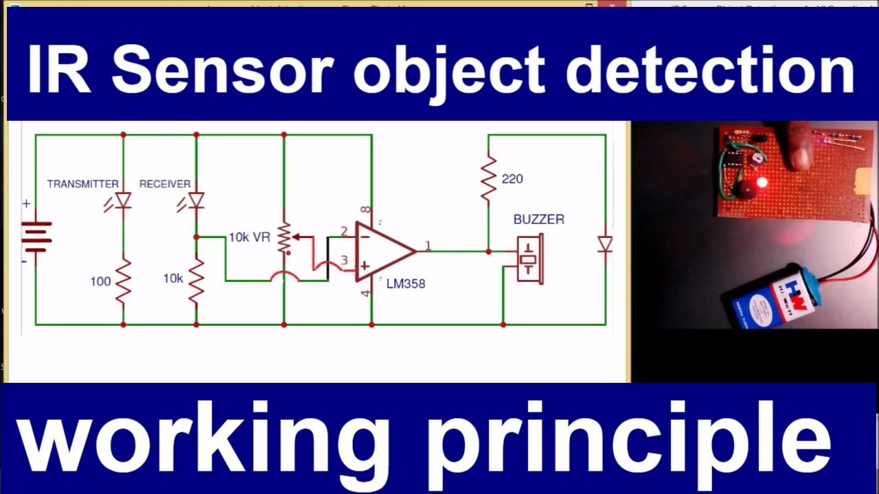 medium resolution of ir sensor object detection working principle