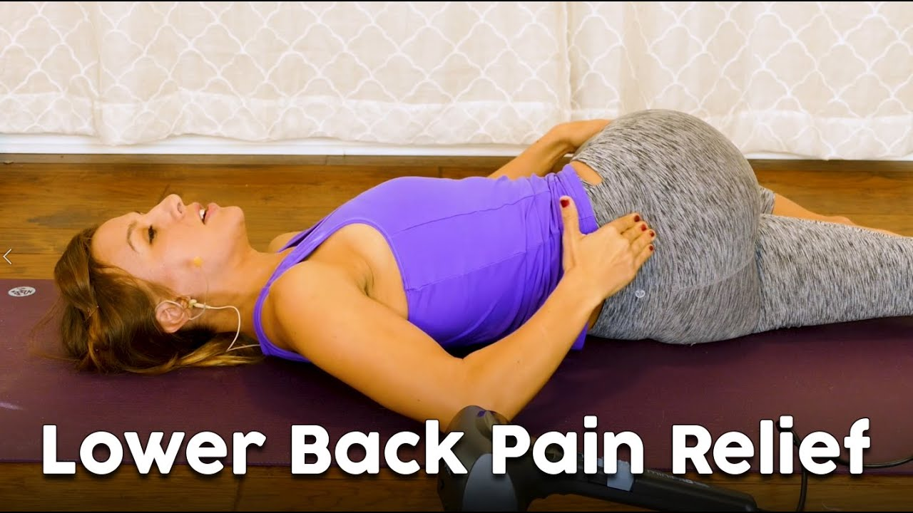 Low Back Pain Stretches & DIY Pain Relief ♥ Easy Beginners At Home Stretch, Self Massage, Sciati