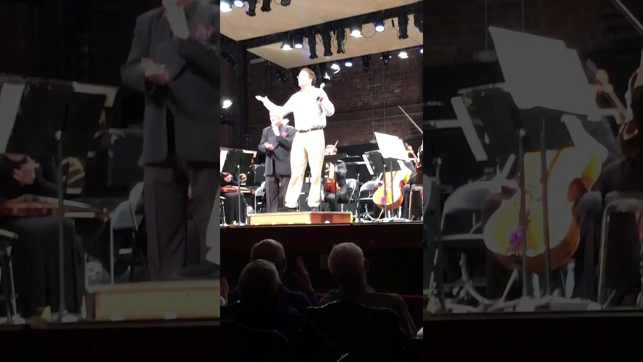 "Joshua Rosenblum introducing his music from ""Einstein's Dreams"""