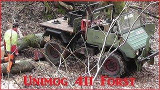 Unimog 411 im Forsteinsatz mit 2x6t Werner-Winde