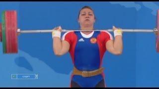 Олимпийские игры 2008. Женщины в.к. до 75  кг. толчок