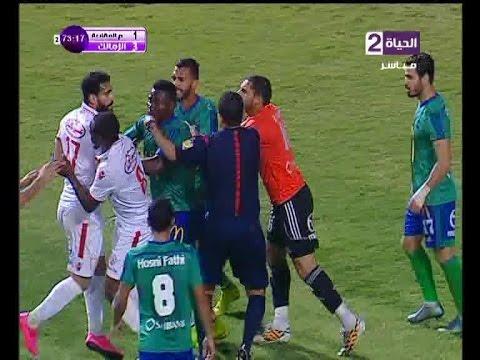 """باسم مرسي """" طلع البلطجى اللى جواك """" سلوك غير رياضى لباسم مرسى ينتهى بطرده امام المقاصة"""