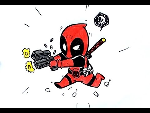 Dessin deapool chibi youtube - Dessin deadpool ...
