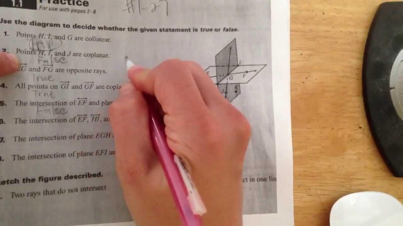 points lines and planes worksheet part 1 youtube. Black Bedroom Furniture Sets. Home Design Ideas