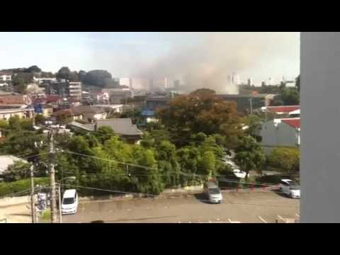 ( KAJI ) Fire in Yokohama shi,Kanazawa-ku Tomioka Higashi Sept 28,2013 10am.part 2 video