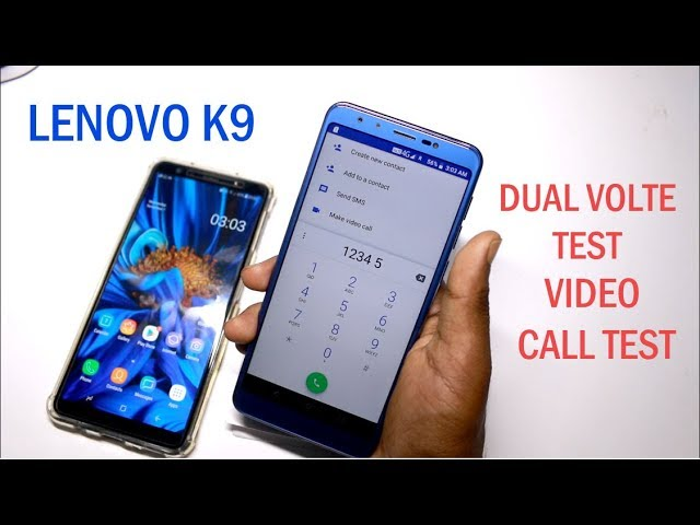 Lenovo k9 Dual VOLTE Test , Video Call Test in Hindi