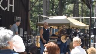 Cactus Gang lead singer Greg Swartz singing the National Anthem at Indian Ranch