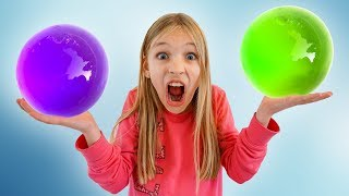 Amelia Avelina and Akim one million orbeez party Funny compilation video