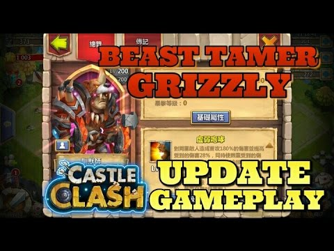 Castle Clash Beast Tamer + Grizzly Gameplay! Update Preview!