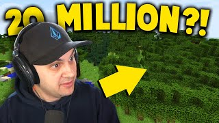How long does it take for one person to plant 20,000,000 trees in Minecraft? #teamtrees
