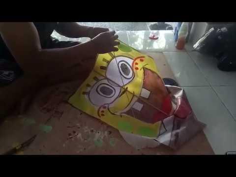 Final Cara Membuat Layangan Kreasi Spongebob Part3