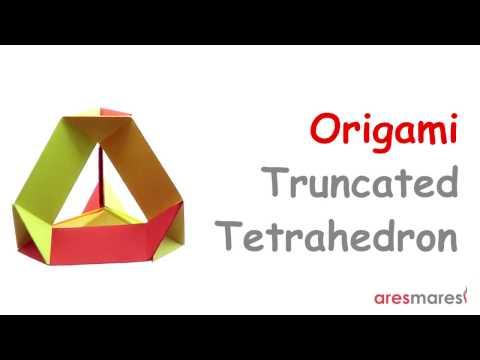 Origami Truncated Tetrahedron Skeleton (easy - modular)