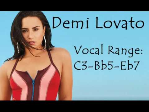 Demi Lovato - Studio Vocal Range: C3 - Bb5 - Eb7