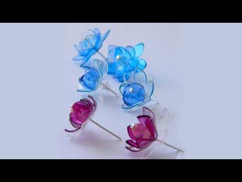 Diy recyclage boucles d 39 oreilles avec bouteille youtube - Diy bouteille plastique ...