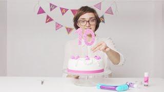 DohVinci Russia 4 видеоурок - как сделать цифры для торта | Курс декора для DohVinci.ru
