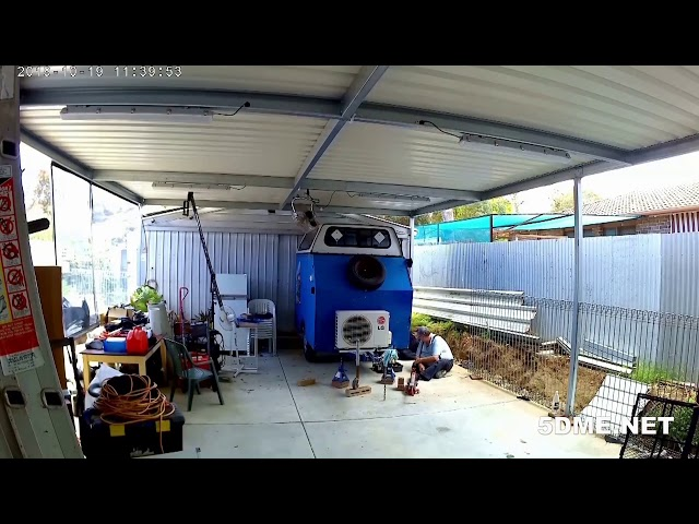 5DME trailer maintenace time lapse