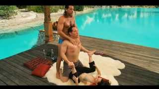 "Yoga Instruction -- Encouragement Boom Position -- ""Couples Retreat"" (HD)"