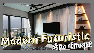 Futuristic Bachelor Pad   APARTMENT TRANSFORMATION   Modern Home Interior Design   High Altitude