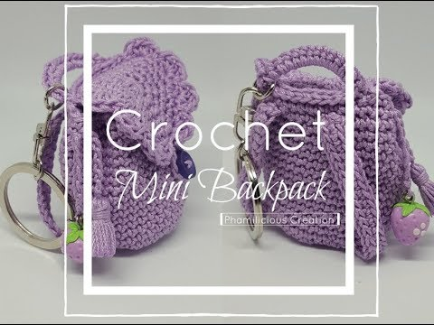 Crochet Mini Backpack Keychain