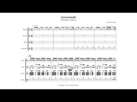 Lemonade - Drumline Cadence