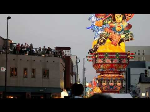 Opening ceremony of the 2012 Tachi Neputa festival in Goshogawara, Aomori Prefecture, Japan