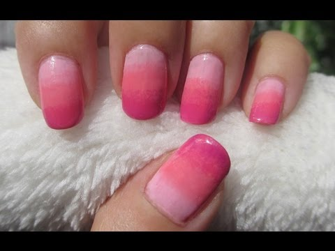 Ombre nail art tutorial youtube ombre nail art tutorial prinsesfo Choice Image