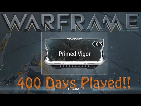 warframe primed vigor 400 days played reward youtube. Black Bedroom Furniture Sets. Home Design Ideas