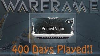 Warframe - Primed Vigor (400 Days Played Reward)