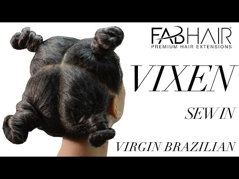 VIXEN SEW IN TUTORIAL FABHAIR