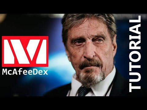 McAfeeDEX Decentralized Exchange - How To Use McAfeeDEX? - McAfee DEX Tutorial thumbnail