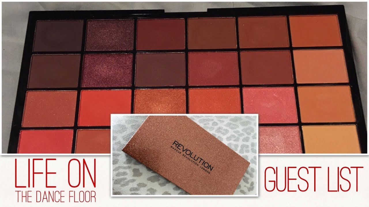 Makeup Revolution Life On The Dancefloor Guest List Palette Swatches And First Impressions