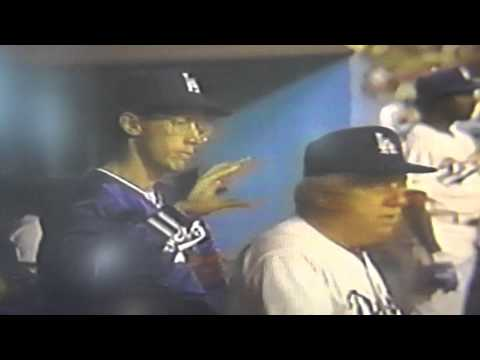 Orel Hershiser Joking With Tommy Lasorda Dodgers Dugout!