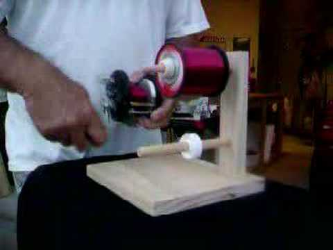 Fishing reel line winder youtube for Fishing line winder