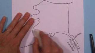 27A How to draw Alaska