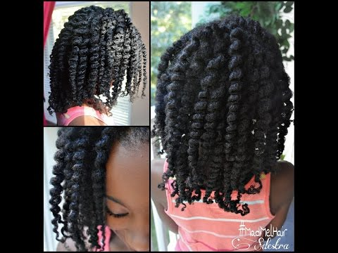 Twist Out On Natural Hair (Hair/Rope Twists)