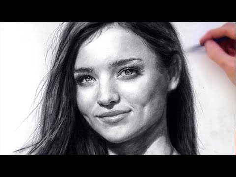 Lovely miranda kerr in charcoal speed drawing art for Basic portrait painting