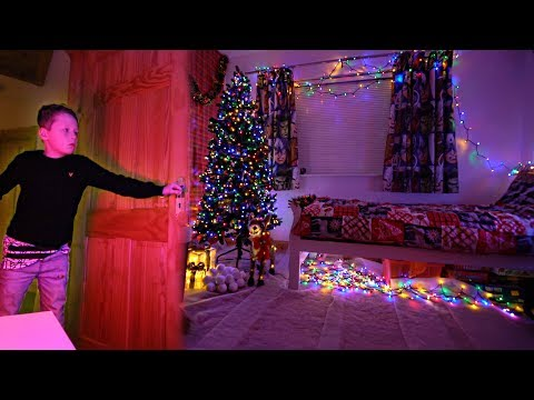 EXTREME CHRISTMAS ROOM MAKEOVER on LITTLE BROTHER!
