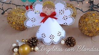 Como hacer angelitos con blondas Thumbnail