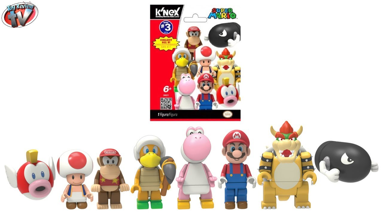 New 1 PACK K/'nex Super Mario Series 10 Mystery Blind Bag Figure Official