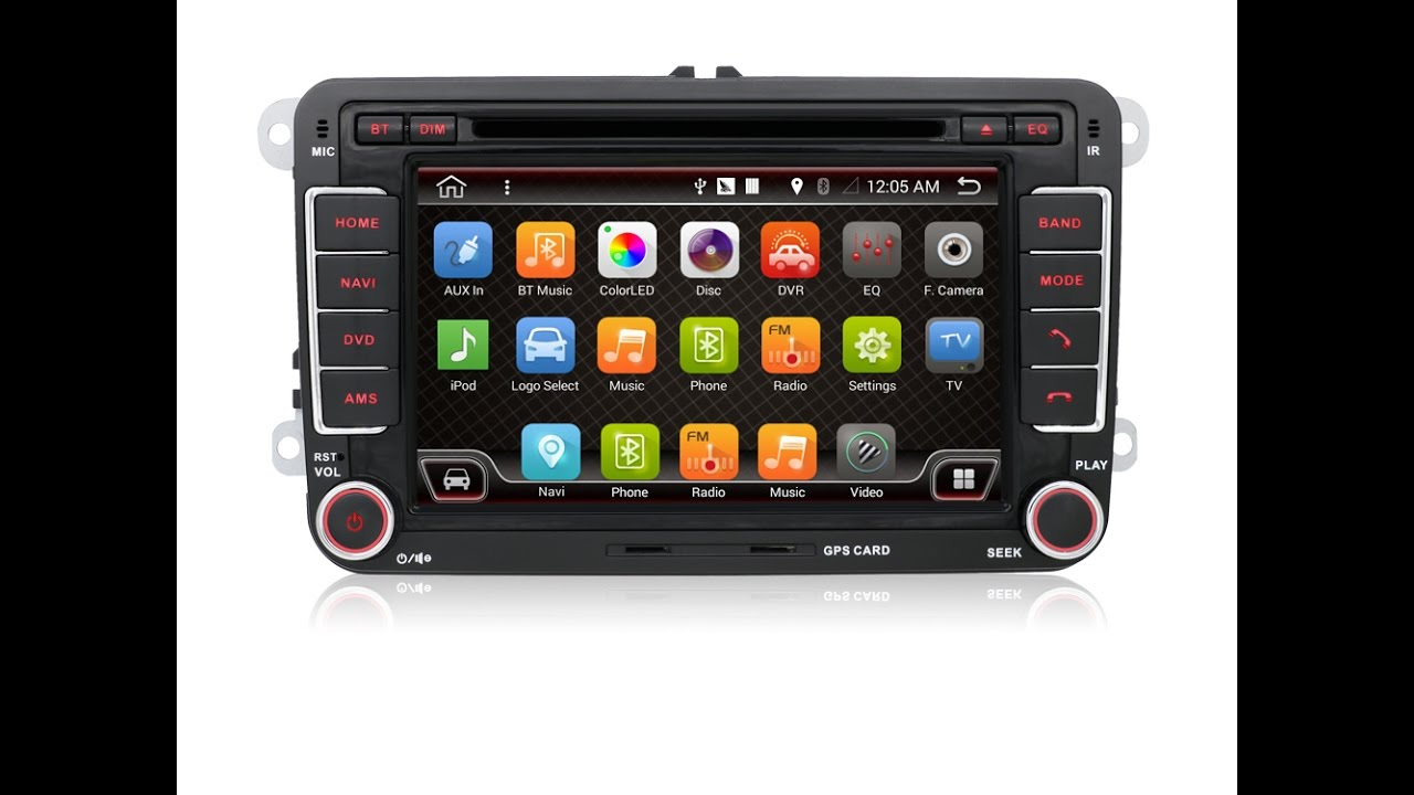 autoradio android 6 0 gps volkswagen golf 5 golf 6. Black Bedroom Furniture Sets. Home Design Ideas