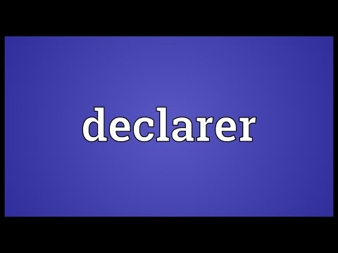 Header of declarer