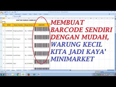 Cara Membuat Barcode dan QR Code di Microsoft Excel.